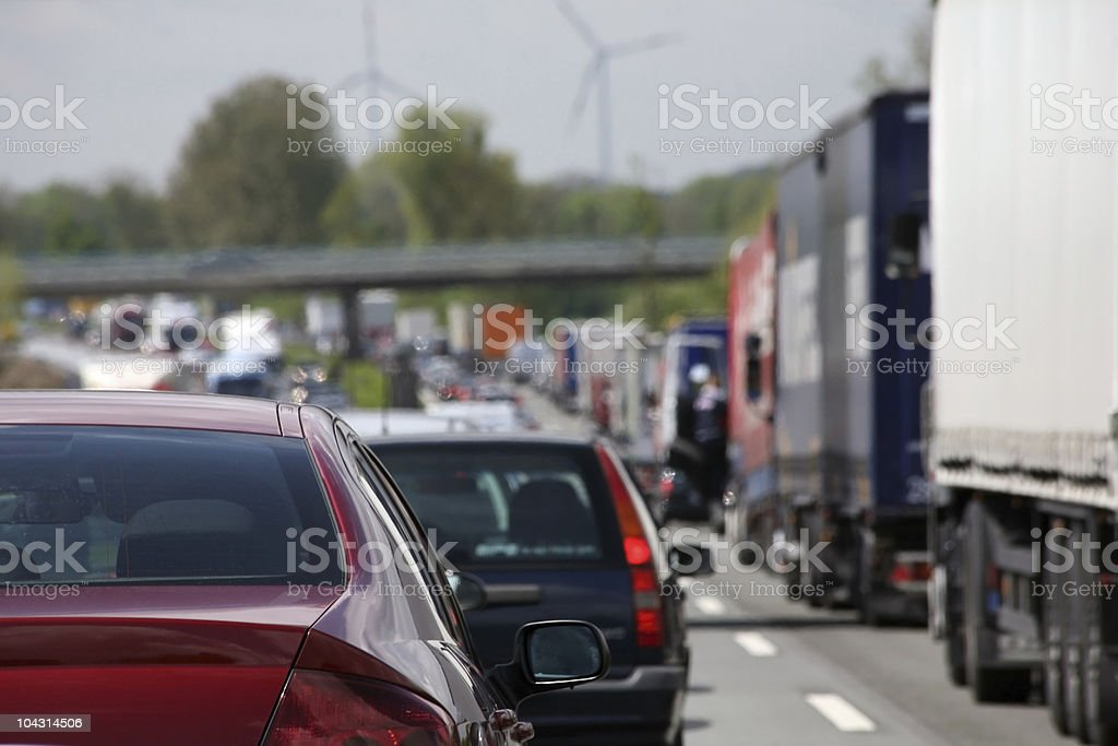 First person point of view traffic jam royalty-free stock photo