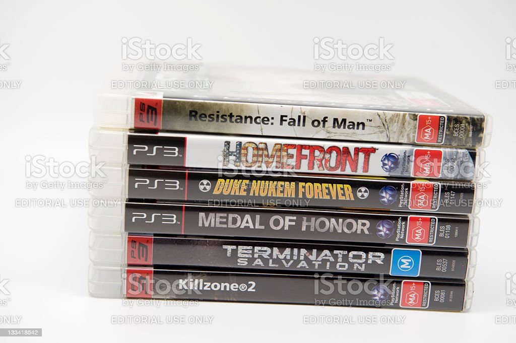 First Person Shooters stock photo