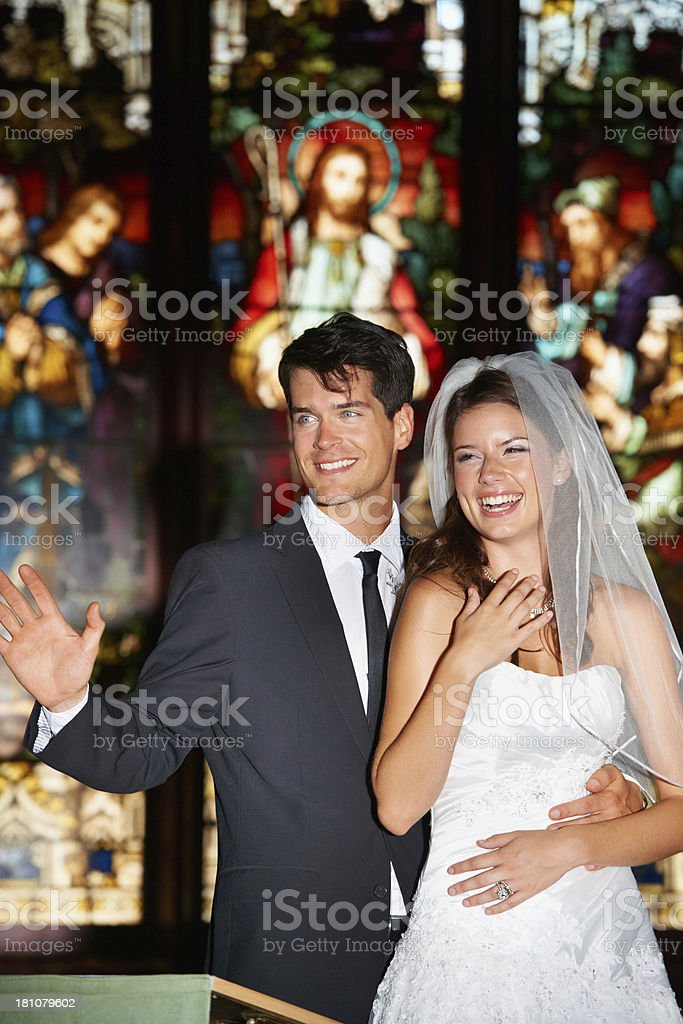 First pictures of the new couple royalty-free stock photo