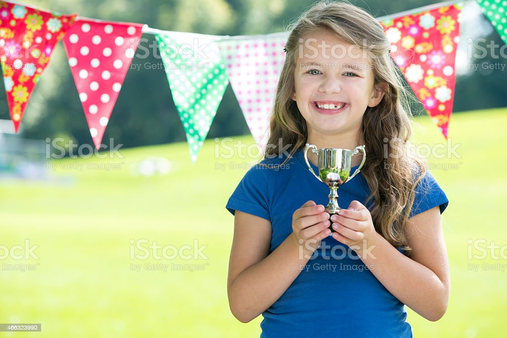 First Place at Sports Day stock photo