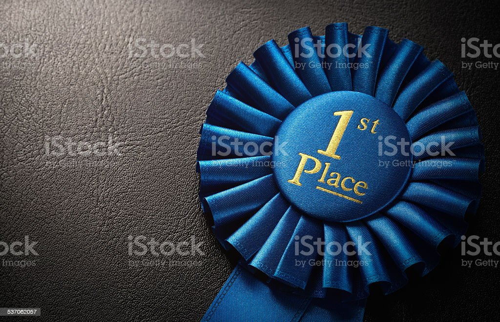 First place award stock photo