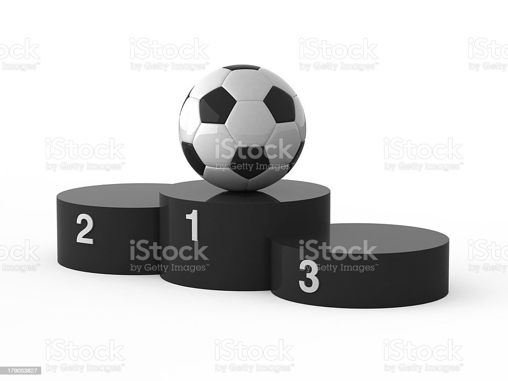First place for soccer. royalty-free stock photo