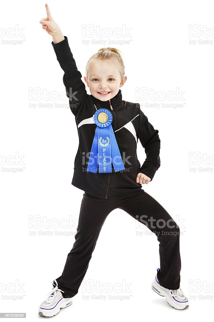 First Place Girl royalty-free stock photo
