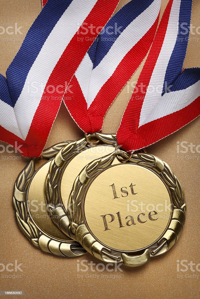 First Place Gold Medal royalty-free stock photo