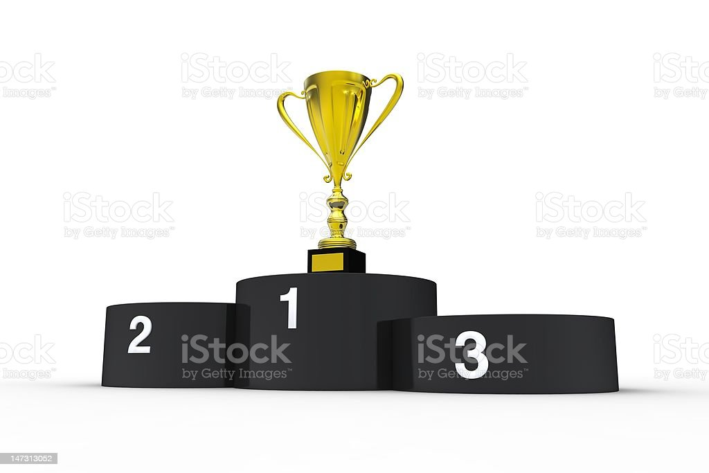 First place! royalty-free stock vector art