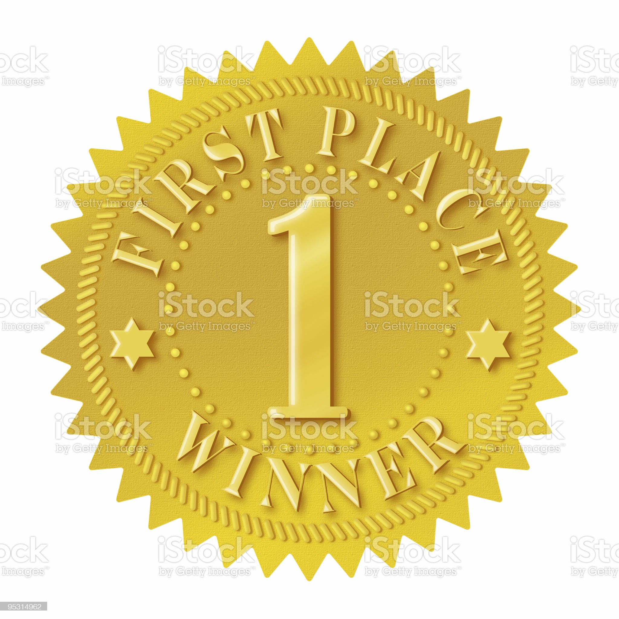 First place winner seal royalty-free stock photo