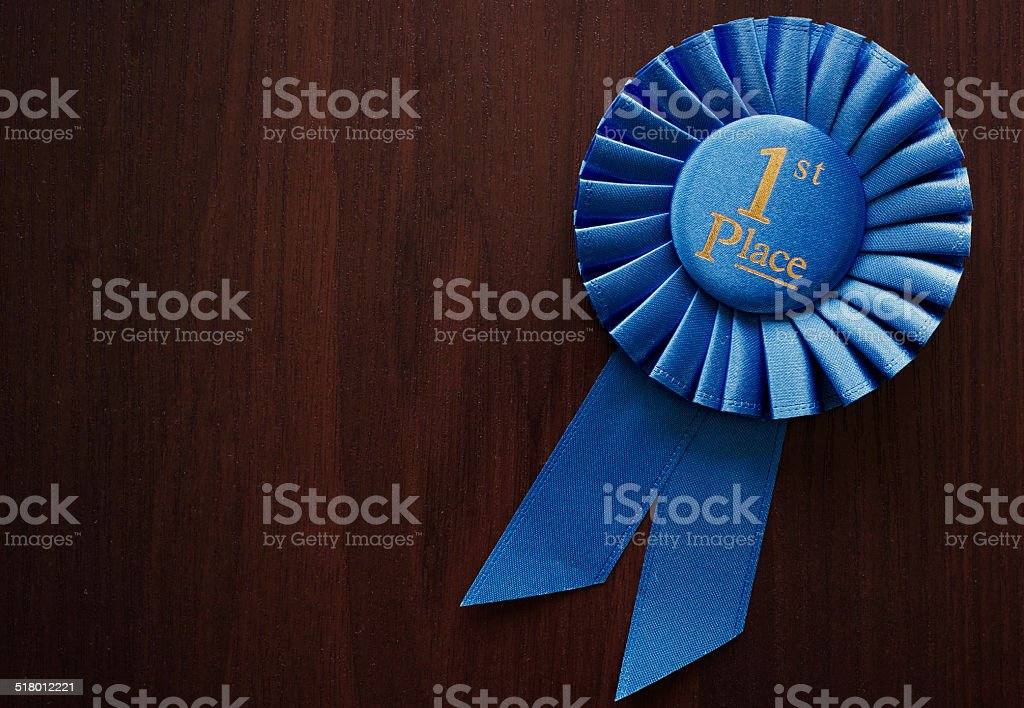 First place winners rosette stock photo