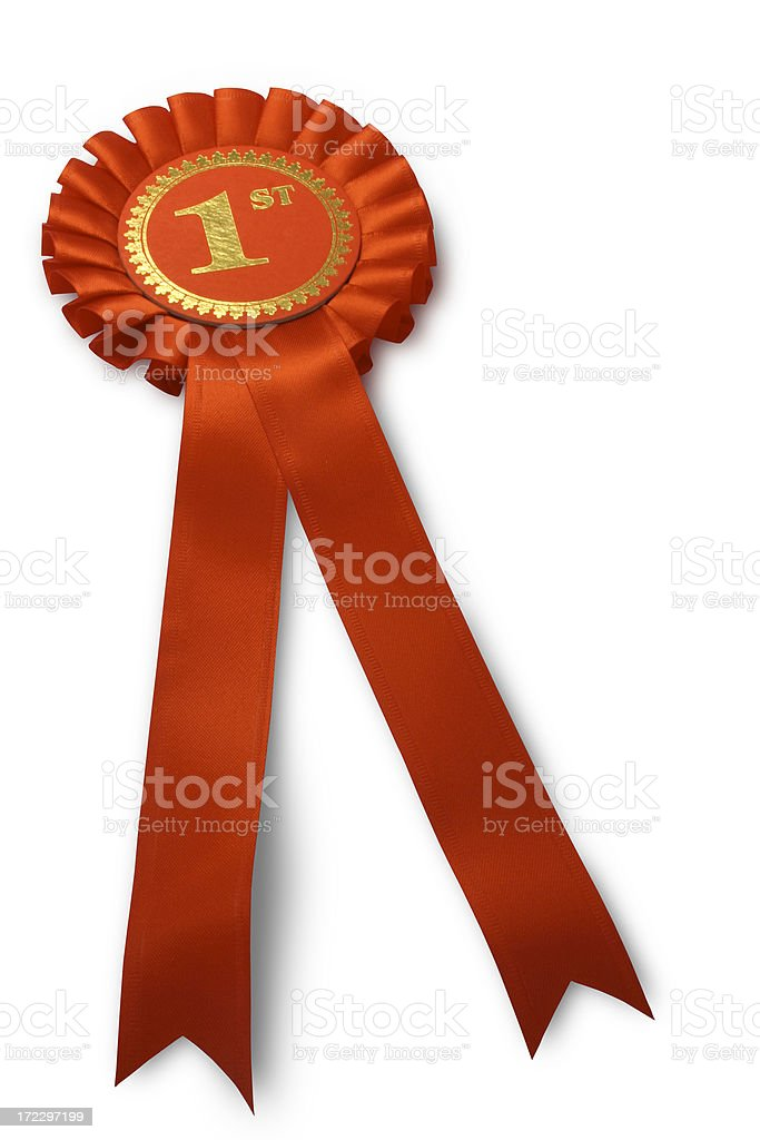 First Prize Rosette royalty-free stock photo