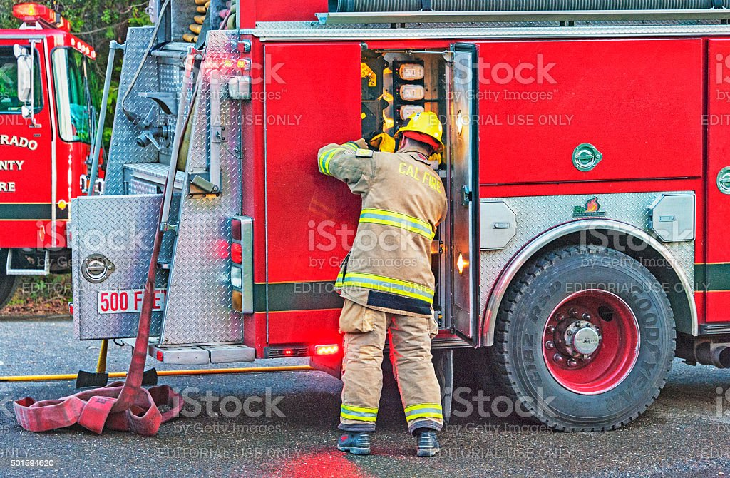 First  Responder in Action stock photo