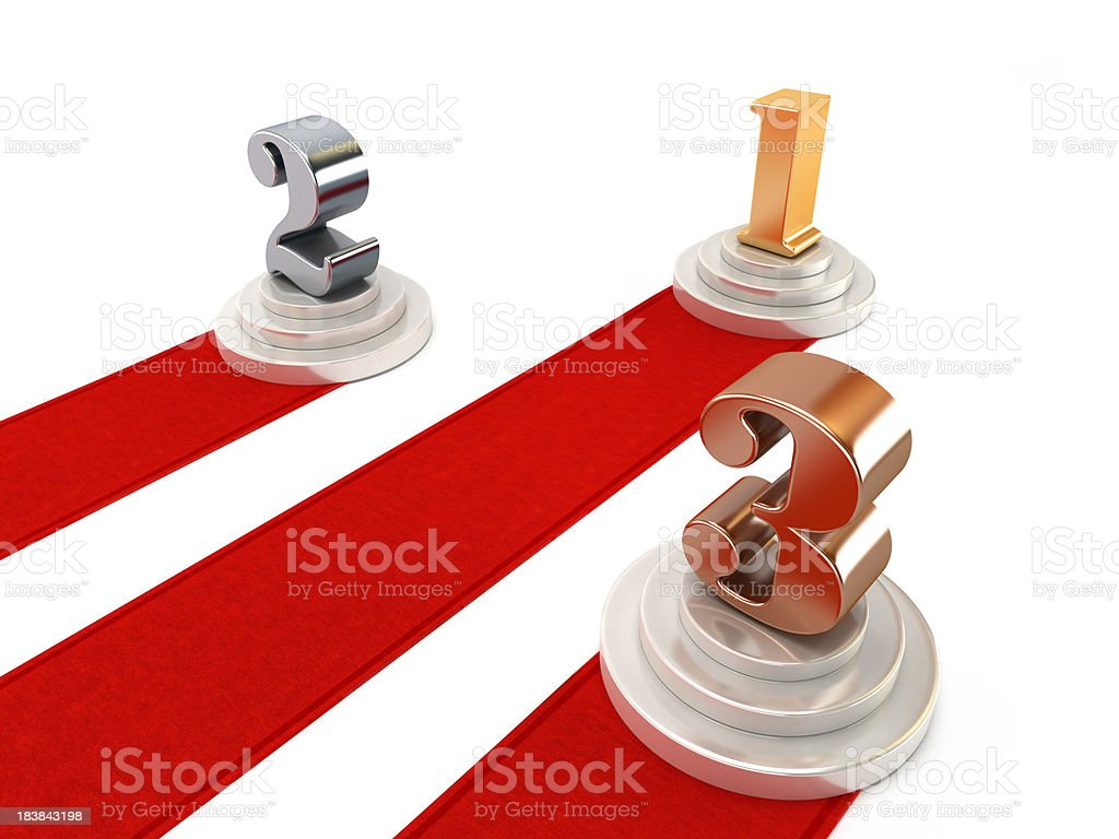 First, second and third royalty-free stock photo