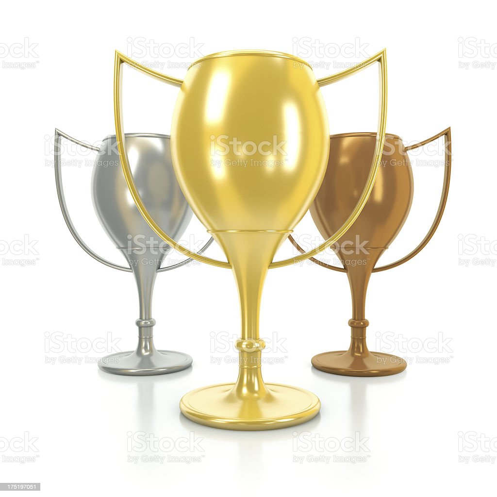 First second and third victory royalty-free stock photo