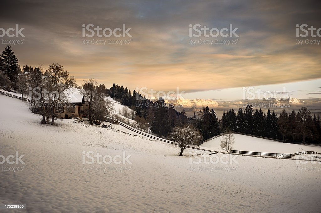 First snow in the Alps royalty-free stock photo
