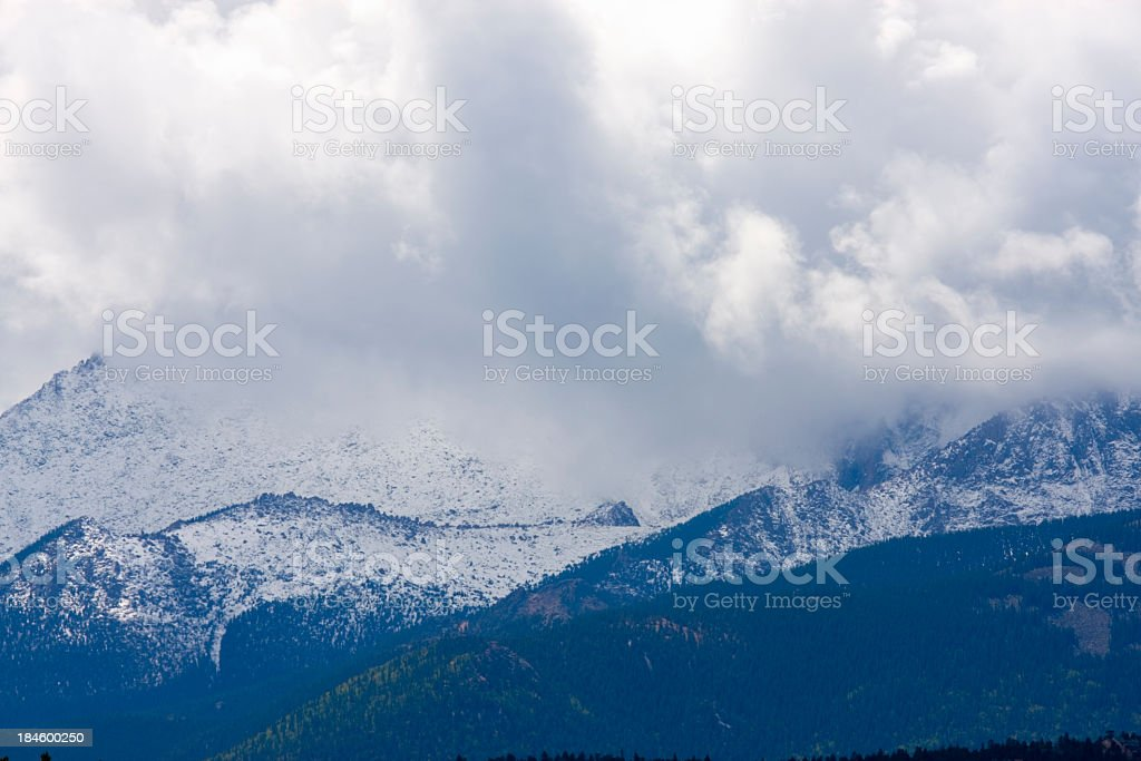 First Snow on Pikes Peak royalty-free stock photo