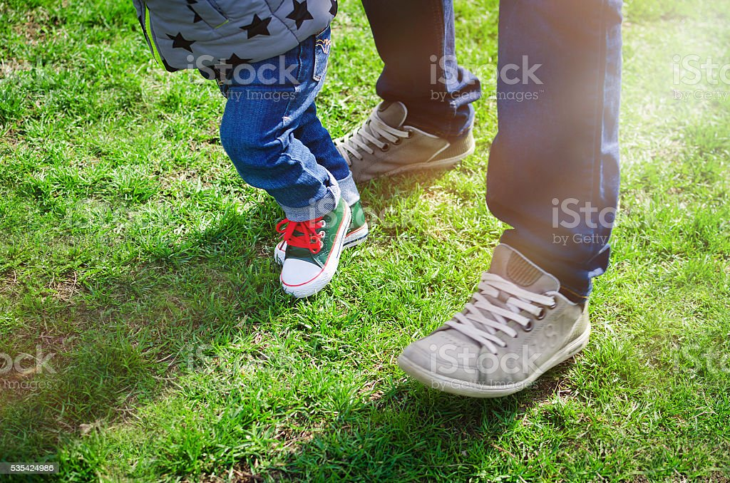 First steps concept stock photo