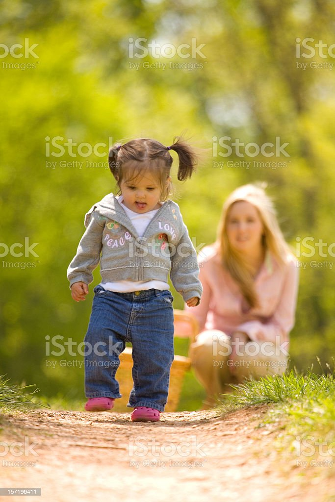 First Steps... stock photo
