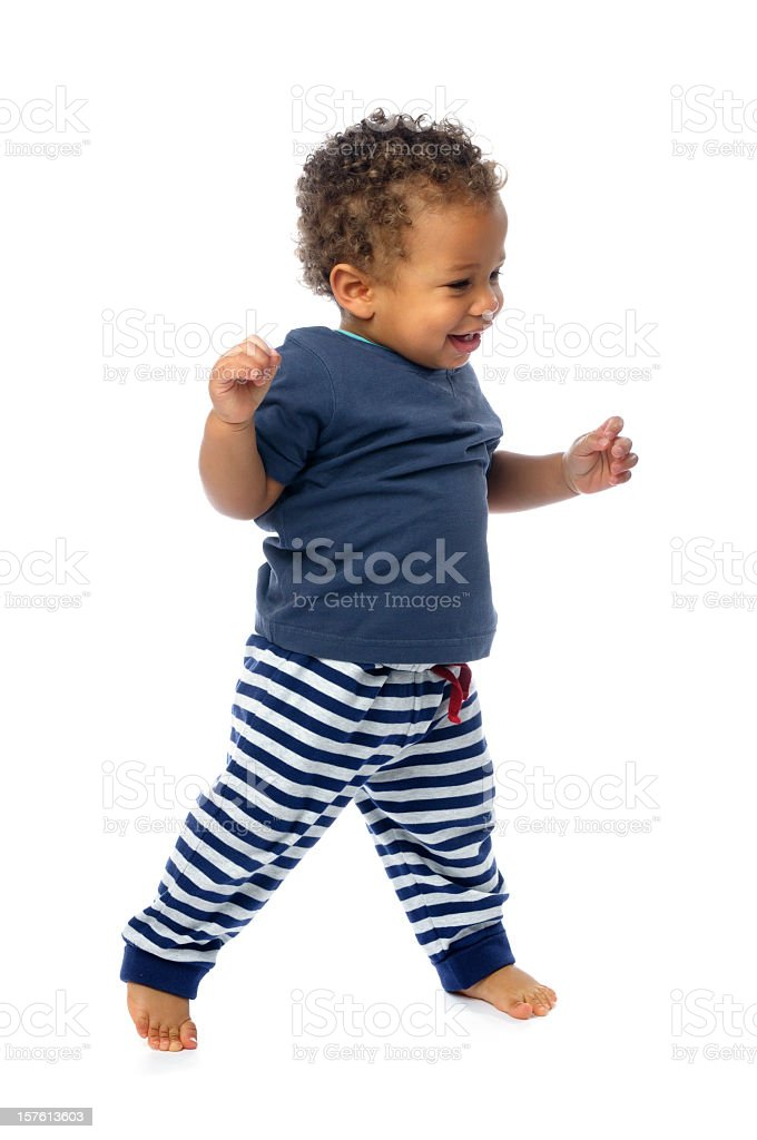 First Steps - Stepping Out And Loving It stock photo