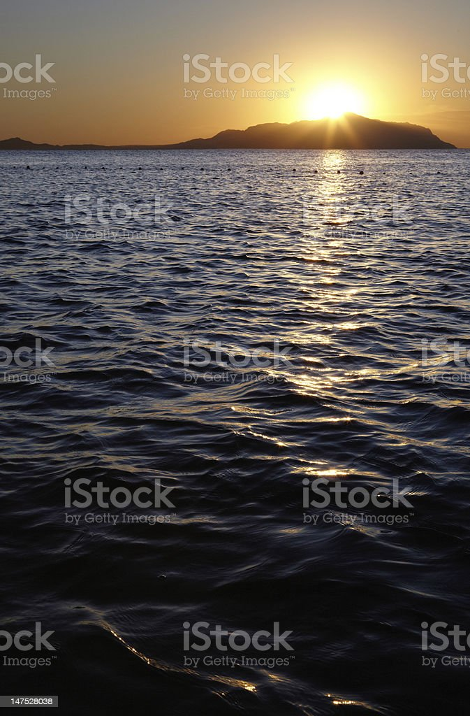 First sunrise in Sharm el Sheikh stock photo