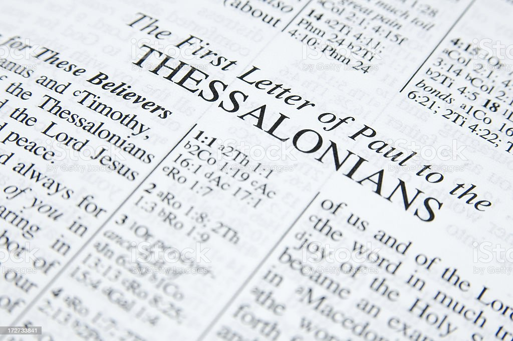 First Thessalonians royalty-free stock photo