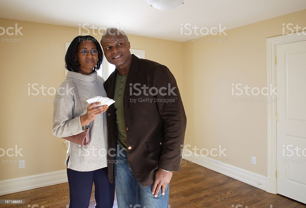 First time at the new House royalty-free stock photo