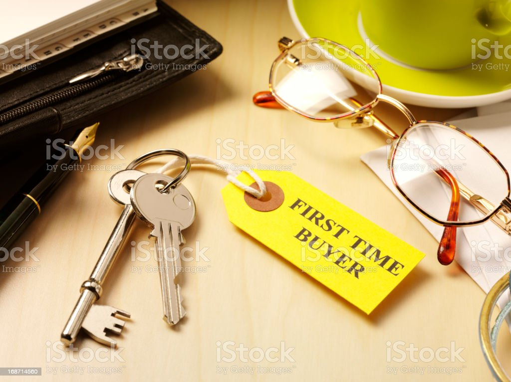 First Time Buyer House Keys stock photo