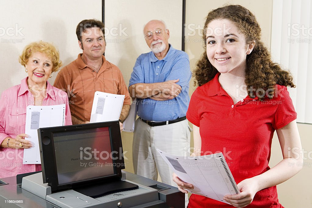 First Time to Vote stock photo