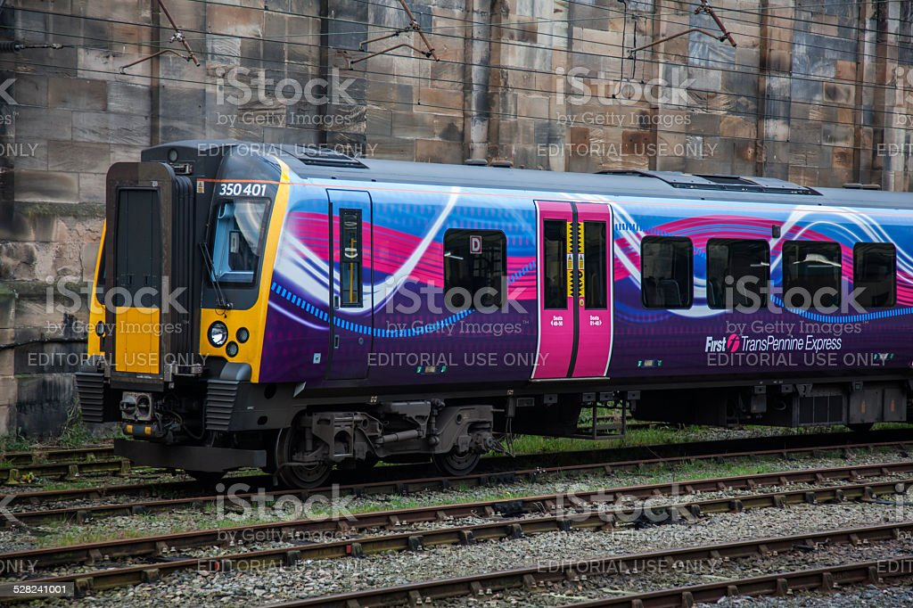 First Transpennine trains at Carlisle Railway Station stock photo