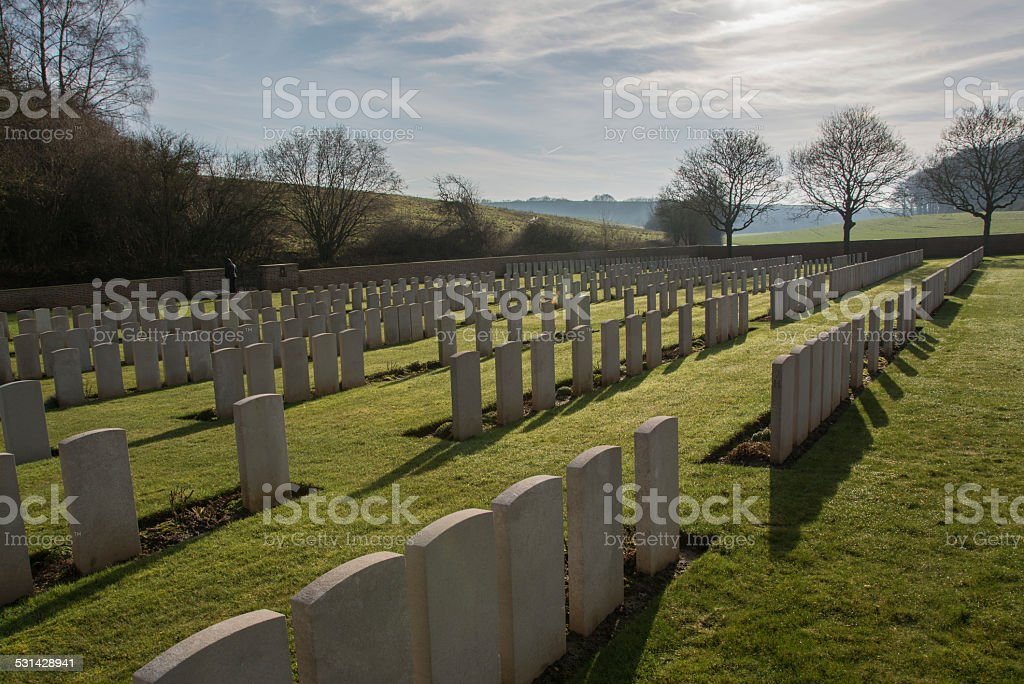 First world war military cemetary, northern France stock photo