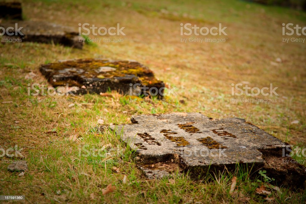 First World War: old German Military cemetery stock photo