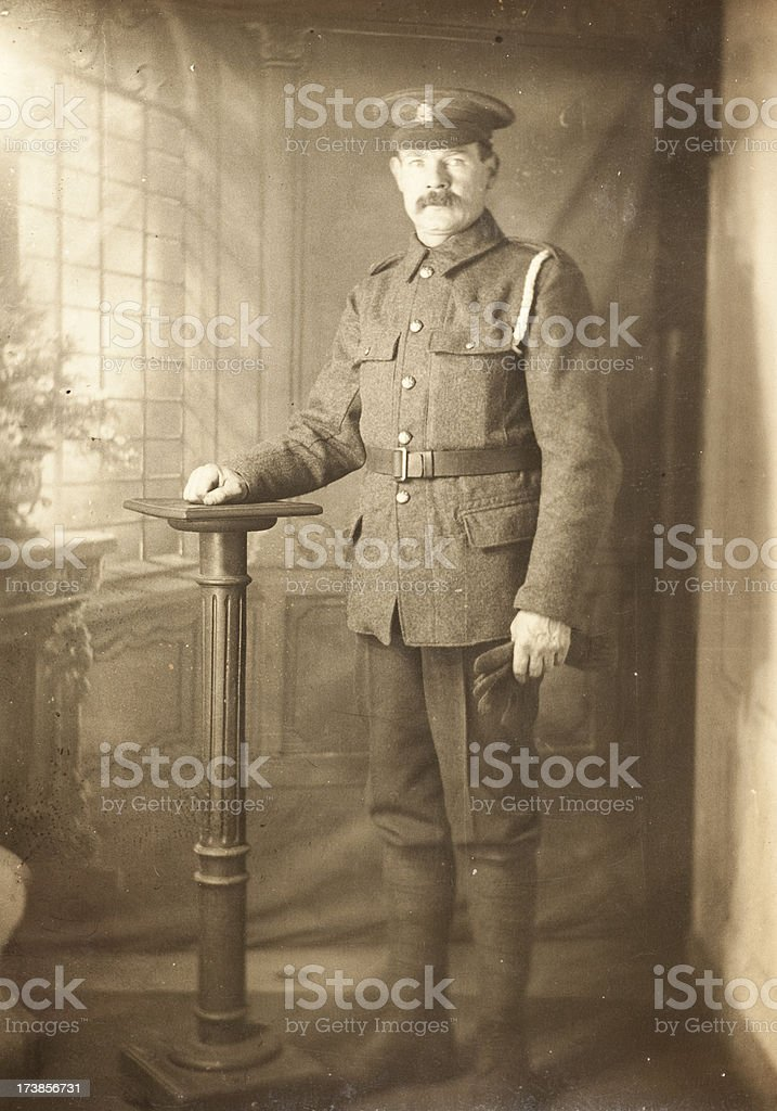 First World War Soldier stock photo