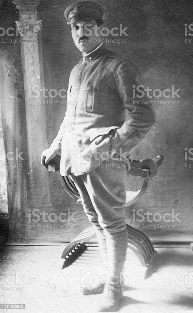 first world war soldier royalty-free stock photo