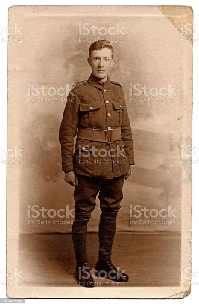 First World War Solider stock photo
