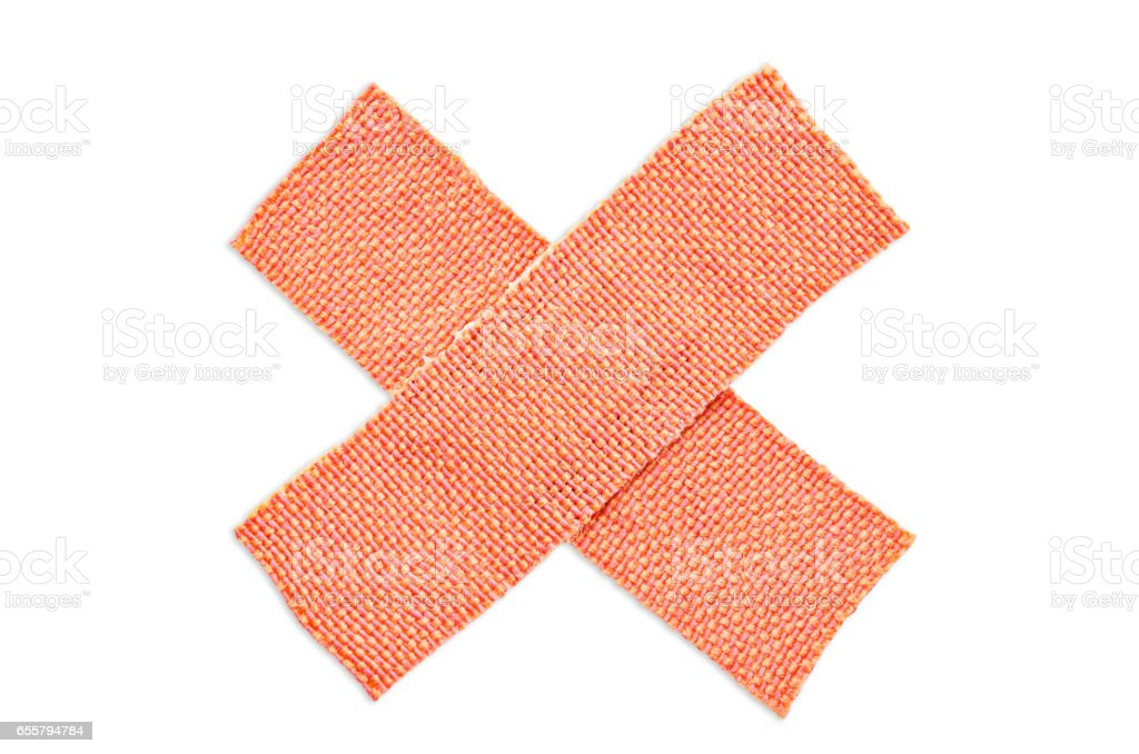 First-aid adhesive plaster stock photo