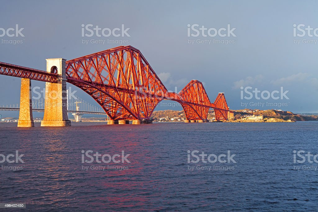 Firth of Forth Rail Bridge Edinburgh stock photo
