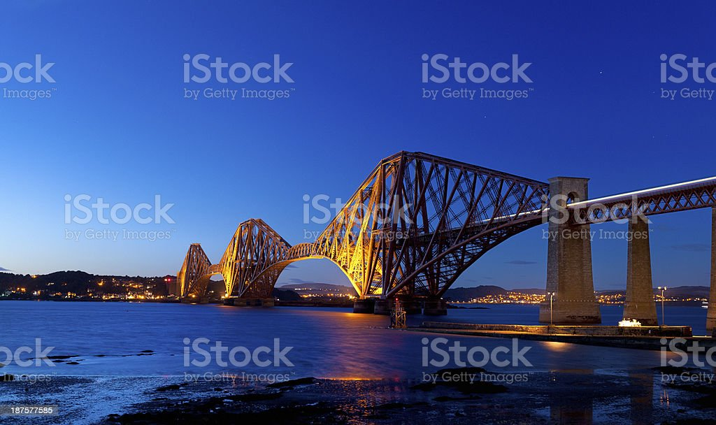 Firth of Forth Rail Bridge in Edinburgh Scotland UK stock photo