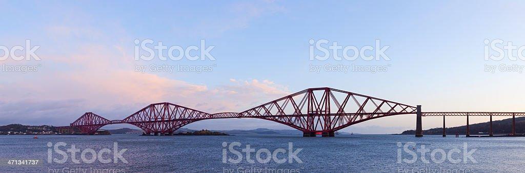 Firth of Forth Rail Bridge Panorama. stock photo