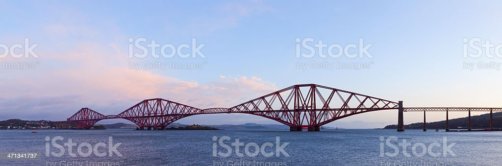 Firth of Forth Rail Bridge Panorama. stock photo