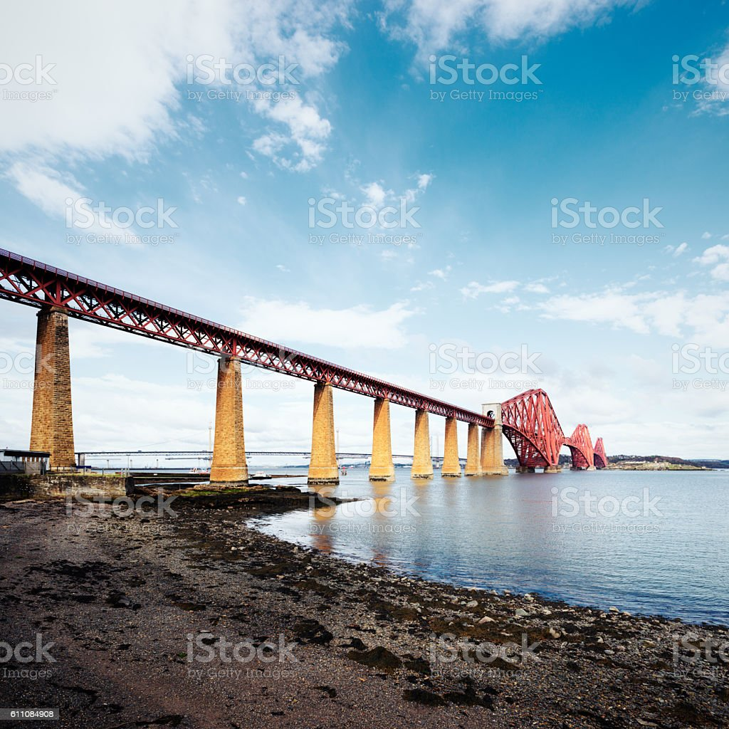Firth of Forth Rail Bridge stock photo