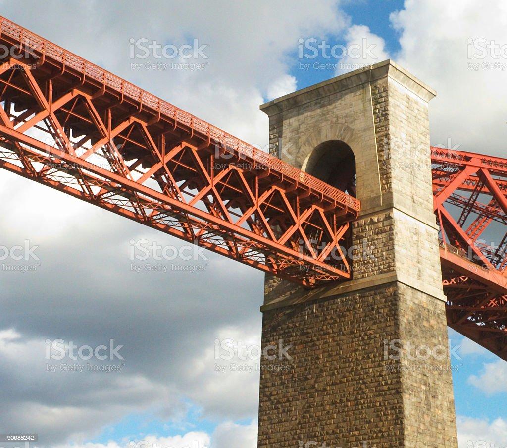 Pont ferroviaire de Firth of Forth photo libre de droits