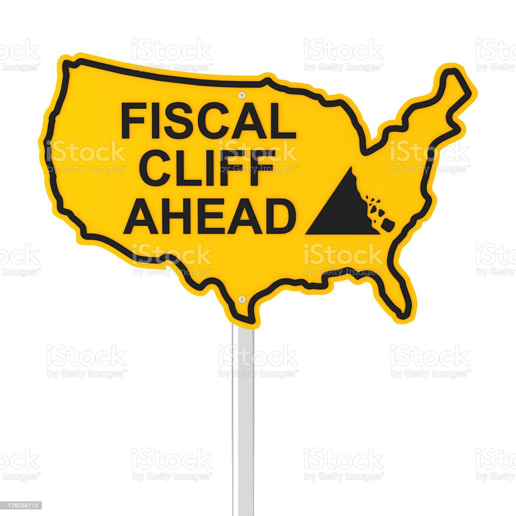 USA fiscal cliff royalty-free stock photo