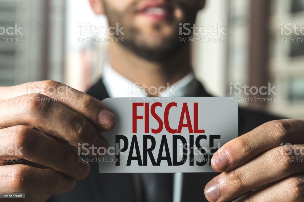 Fiscal Paradise stock photo