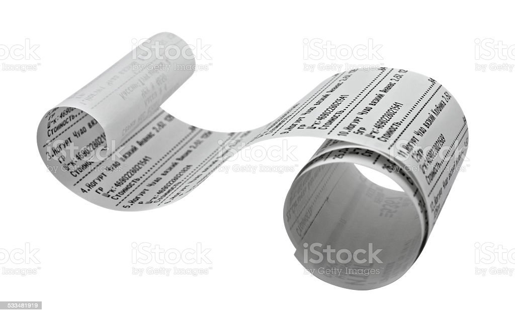 Fiscal receipt stock photo