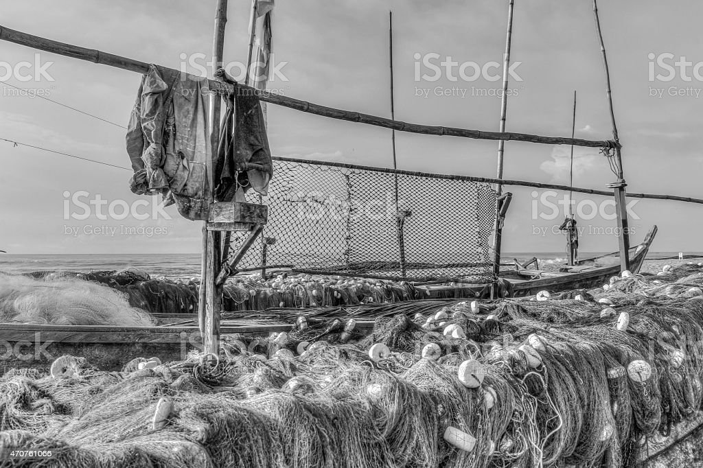 Fischerboote stock photo
