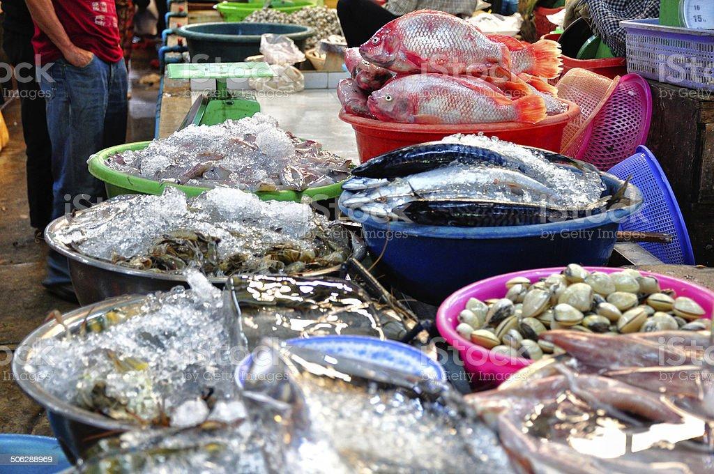 Fischmarkt stock photo