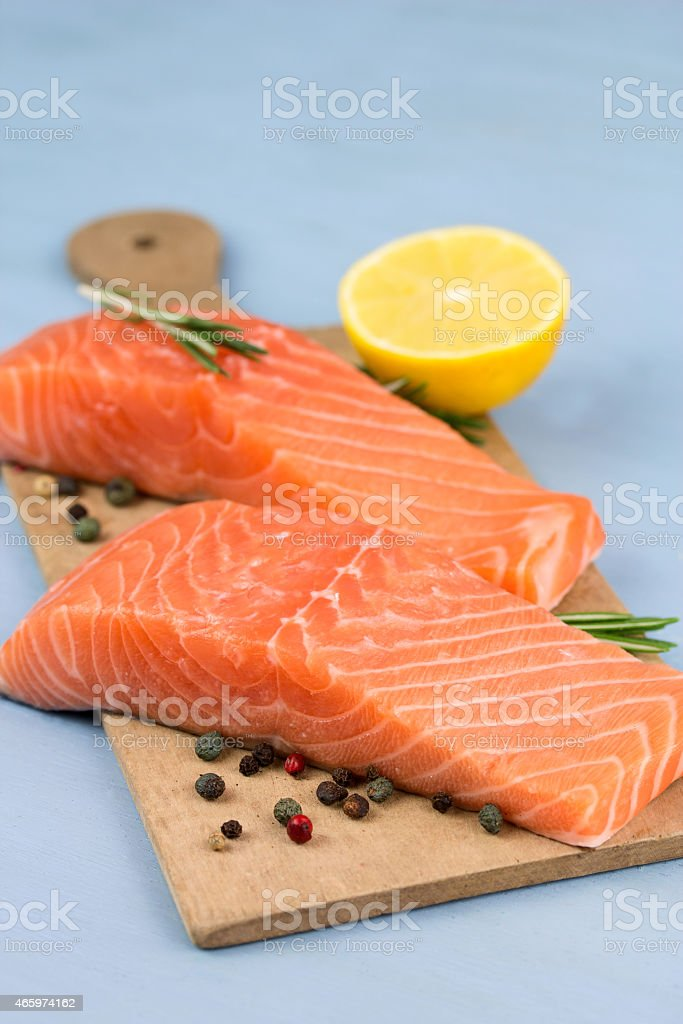 Fischtheke stock photo