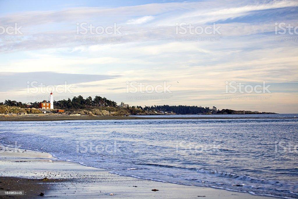 Fisgard Lighthouse stock photo