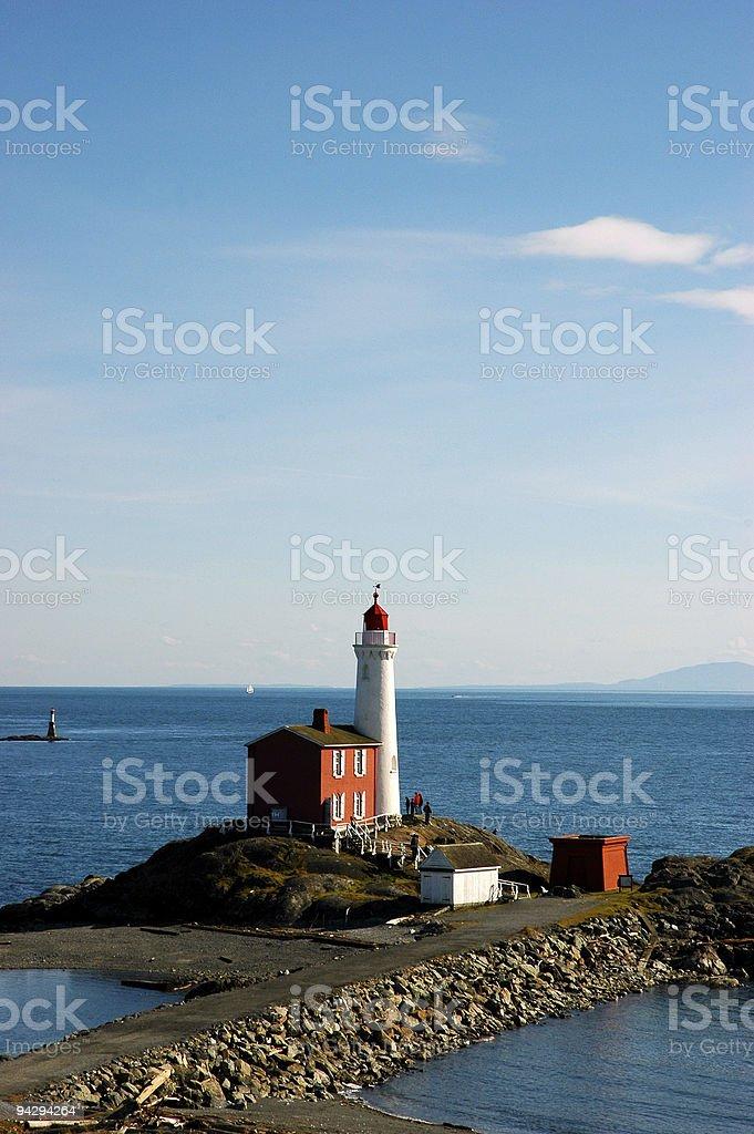 Fisgard Lighthouse* royalty-free stock photo