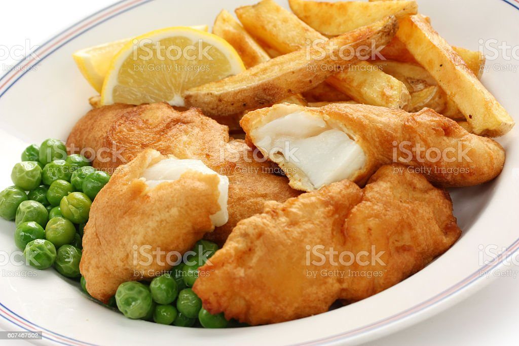 fish and chips, english food stock photo