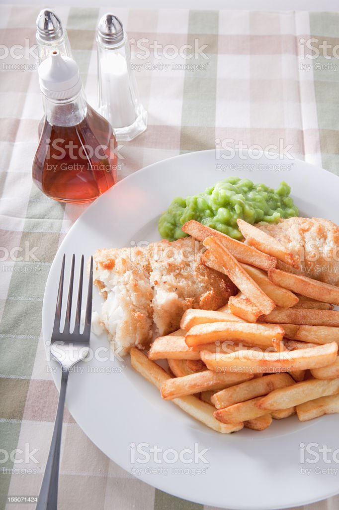 Fish And Chips Meal stock photo