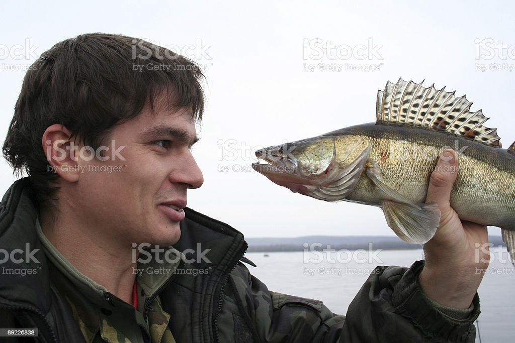 fish and fisherman royalty-free stock photo