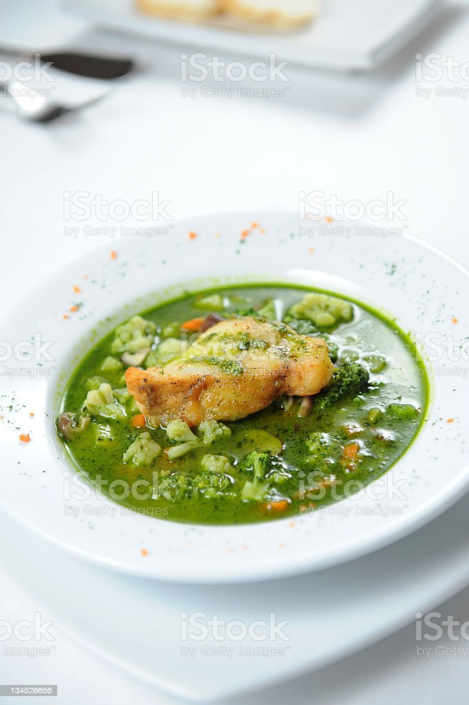 fish and soup royalty-free stock photo